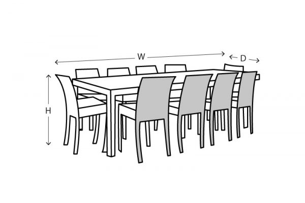 rectangle table and chairs setting
