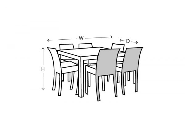 square table and chairs setting