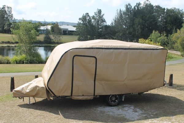 Colour Beige, with Zip Out Access Door and separate Drawbar and Hitch Cover