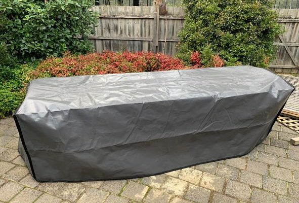 Photo of outdoor table cover in Tarpee - Charcoal - web